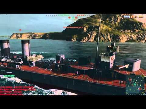 World Of Warship Japon Kawachi BattleShip + Torpido Saldırısı