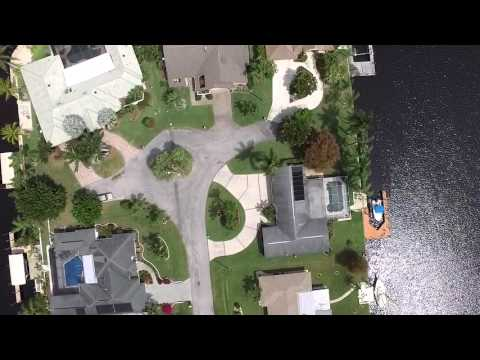 Cape Coral - Flying a drone over the Canal