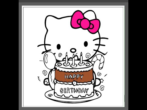 scene hello kitty coloring pages - photo#39