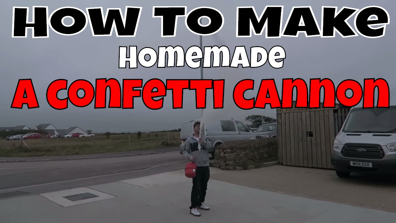How to make a confetti cannon - YouTube