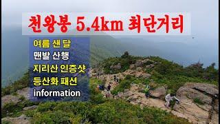 지리산 천왕봉 최단거리 5.4km 구간 인증샷,등산화,…