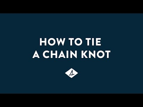 How To Tie A Sperry Chain Knot