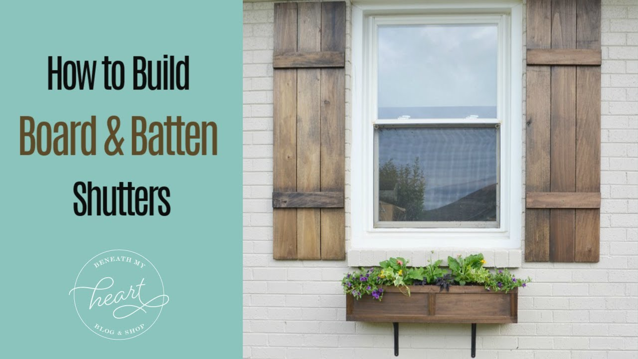 How To Build A Board And Batten Shutter Youtube