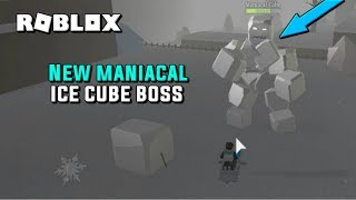 DEFEATING THE NEW MANIACAL CUBE BOSS | ROBLOX SNOW SHOVELING SIMULATOR