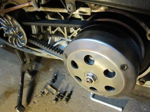 Как работает вариатор и сцепление (торкдрайвер) на скутере Honda