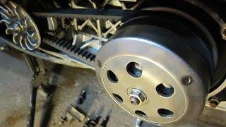 Як працює варіатор і зчеплення (торкдрайвер) скутером Honda