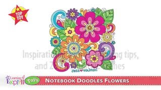 Top Toy: Notebook Doodle Flowers Coloring Book