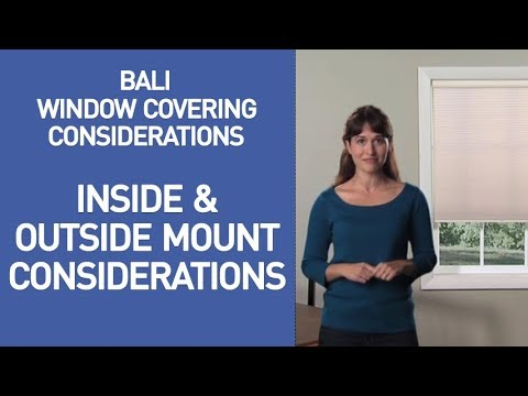 Bali Blinds and Shades - Inside and Outside Mount Considerations