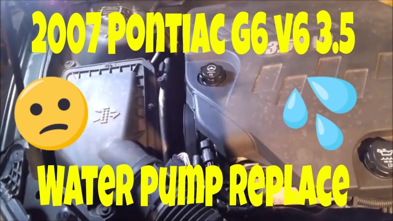 2007 pontiac g6 v6 3 5 water pump replace [ 1280 x 720 Pixel ]