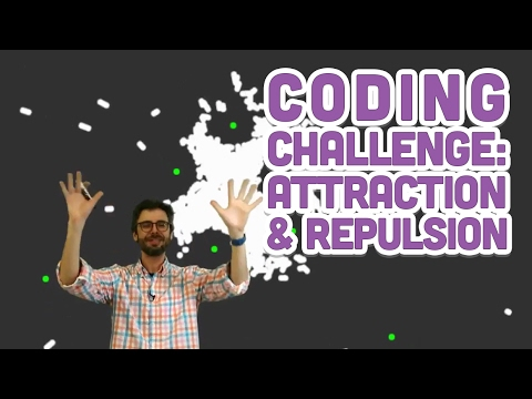 Coding Challenge #56: Attraction and Repulsion Forces
