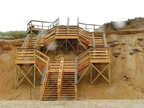 how to draw beach stairs