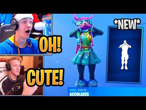 "Tfue & Streamers React to *NEW* ""Accolades"" Emote and Item Shop! - Fortnite Best and Funny Moments"