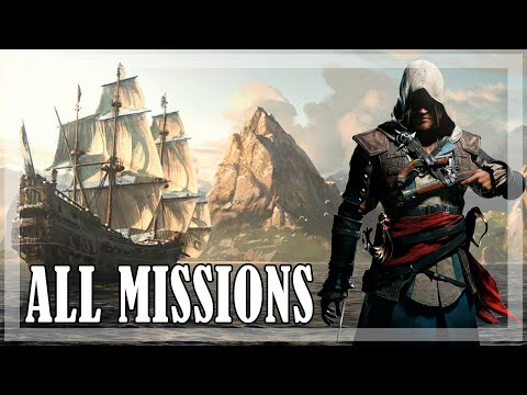Assassin's Creed 4 Black Flag - All Missions | Full game 100% Sync