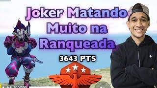 PALHAÇO ASSASSINO PEGANDO 3600 RANQUEADA MESTRE DO FREE FIRE!