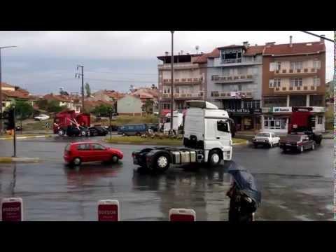 Uşakta TIR'cılarının konvoyu :)