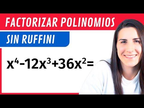 ejercicios de polinomios #3 - factorizar polinomios