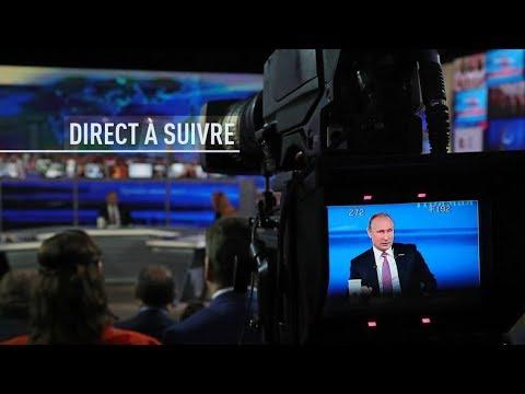 EN DIRECT : Conférence de presse annuelle de Vladimir Poutine
