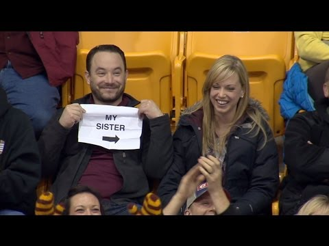 Thumbnail: Gophers Kiss Cam Guy: Story Behind the Sign