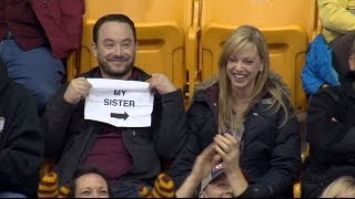 Repeat youtube video Gophers Kiss Cam Guy: Story Behind the Sign