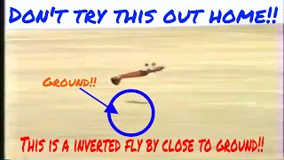 Gopher Hill RC Flying Club presents: inverted fly by close to ground