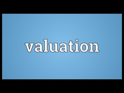 Valuation Meaning