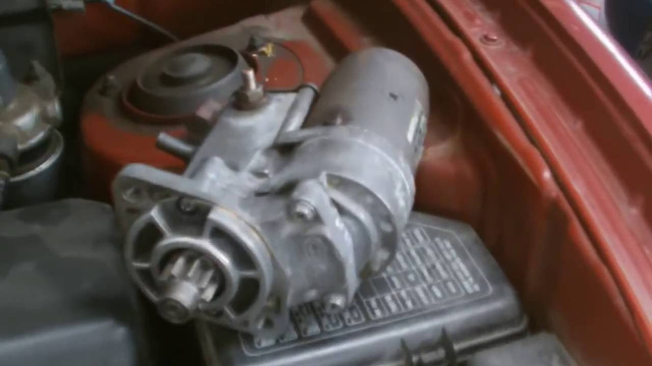 medium resolution of hyundai starter motor replacment