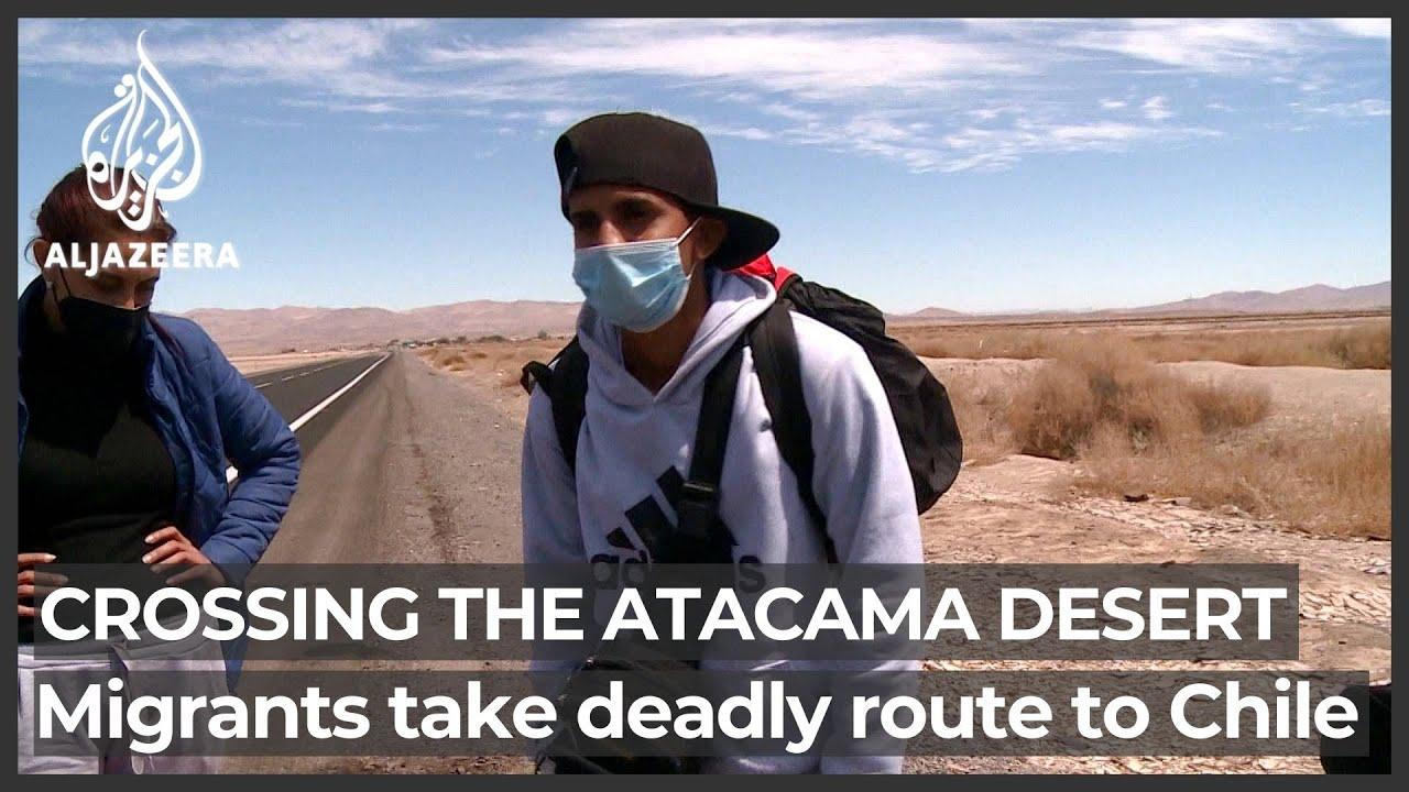 Download Venezuelan migrants brave deadly Atacama Desert to get to Chile