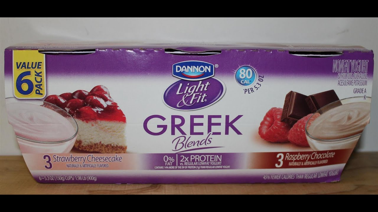 Dannon Light  Fit Strawberry Cheesecake and Raspberry