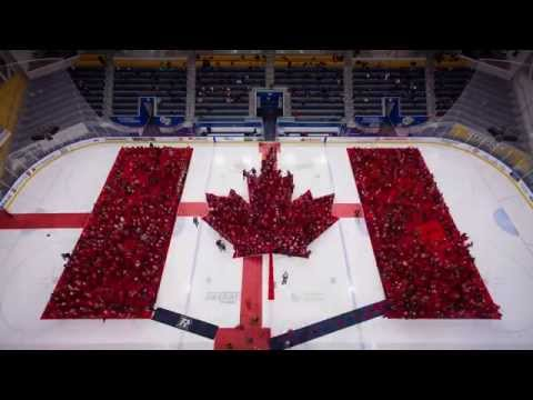 Human Canadian flag time lapse video / Drapeau canadien humain - vidéo accélérée