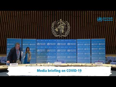 Media briefing on COVID-19.
