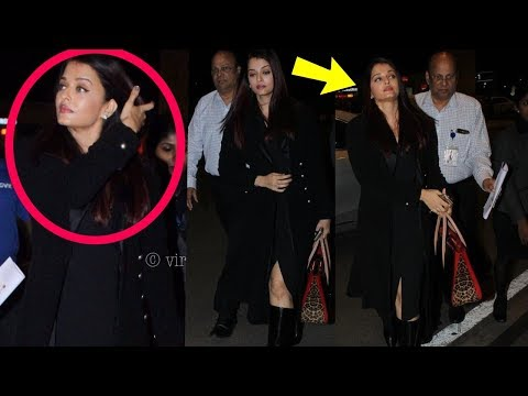 Omg ! Aishwarya Rai spottee crying while leaving Bachchan house alone at early morning today|