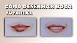 Como desenhar boca realista com lápis de cor / How to draw realistic mouth - Tutorial