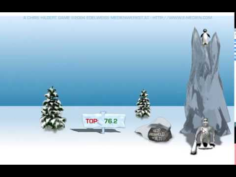 Yeti Sports 1 : Pingu Throw (Flash Game 2004)