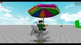 Roblox review on The Deluxe Blue Ro-Ped & The Beach umbrella