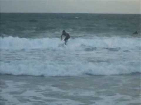 Surfing On Carnivan Beach Wexford.