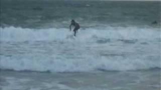 Surfing On Carnivan Beach Wexford.