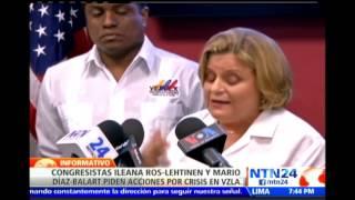 Congresistas estadounidenses proponen sanciones a quienes violen DD.HH. en Venezuela
