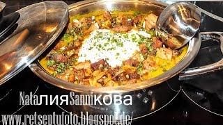 Овощной суп пюре с тыквой из кабачков с мясом