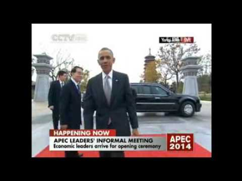 Leaders arriving for the 2014 APEC Economic Leaders' Meeting