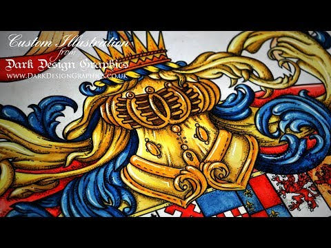 Coat of Arms of Armorial Bearings - Speed Painting