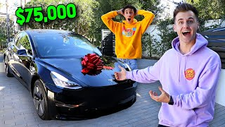 We SURPRISED Our Best Friend With His DREAM CAR! (TESLA)