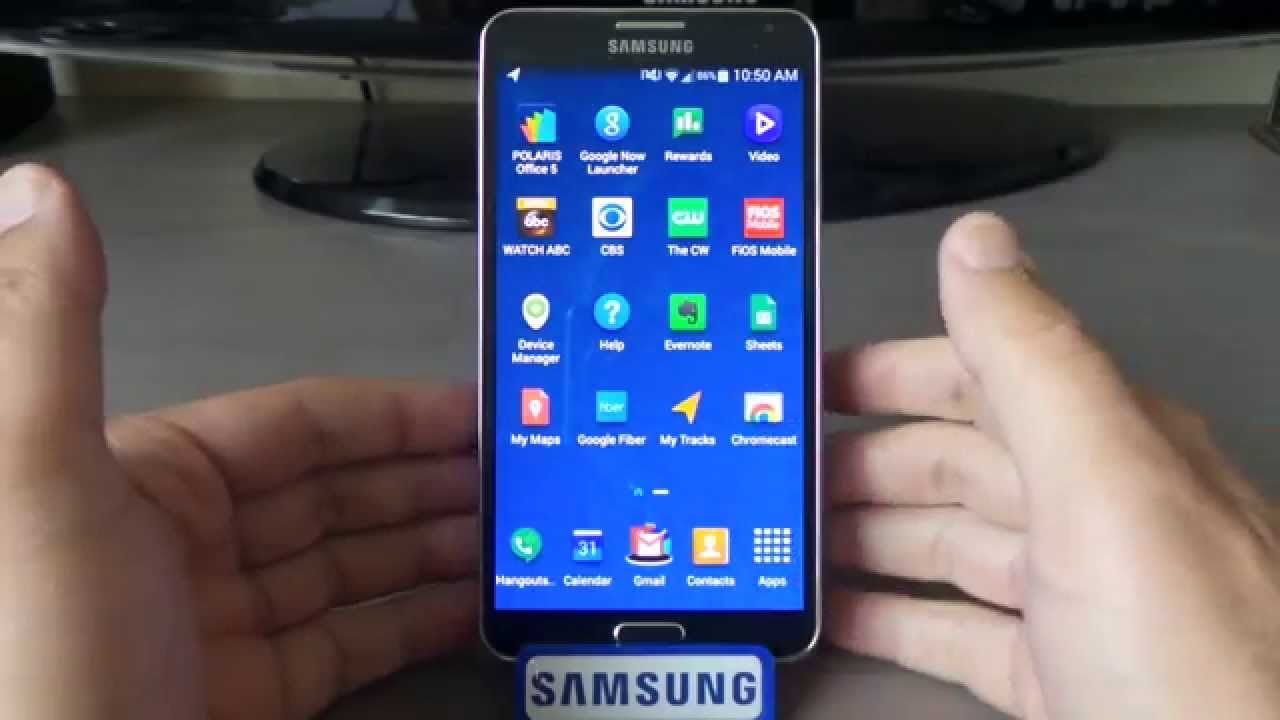 arrange apps galaxy note 3