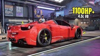 Need for Speed Heat Gameplay - 1100HP+ FERRARI 458 SPIDER Customization | Max Build