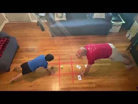 Plank Tic Tac Toe - PE at Home