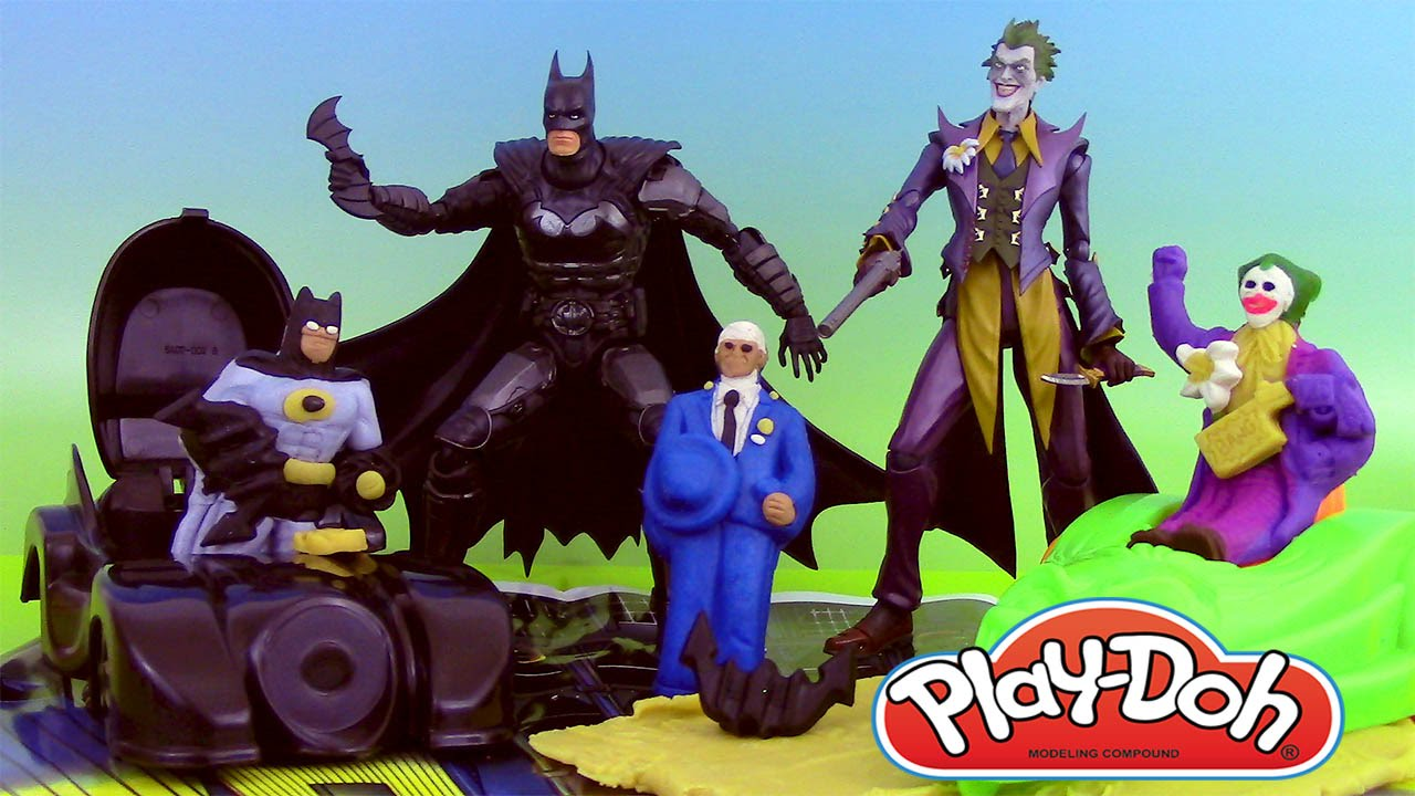 Batman Play Doh Vintage Playset Pate A Modeler Batman Avec Le