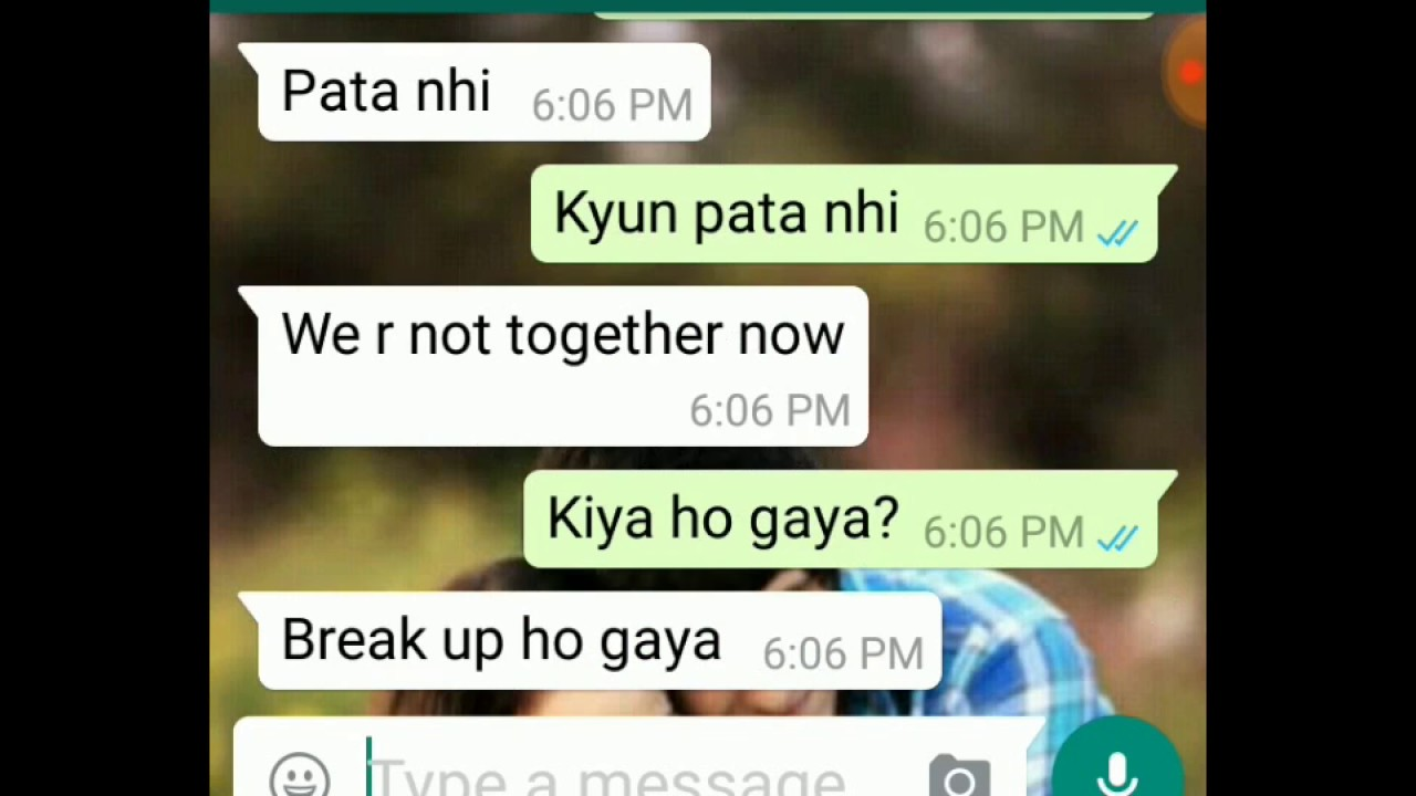 After Break Up Conversation Between Bf And Gf F0 9f 98 9e