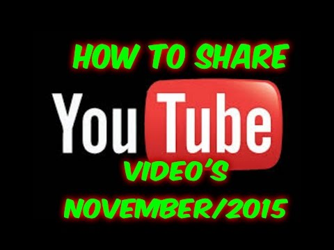 How to share a YouTube Video on your channel |November 2017 thumbnail