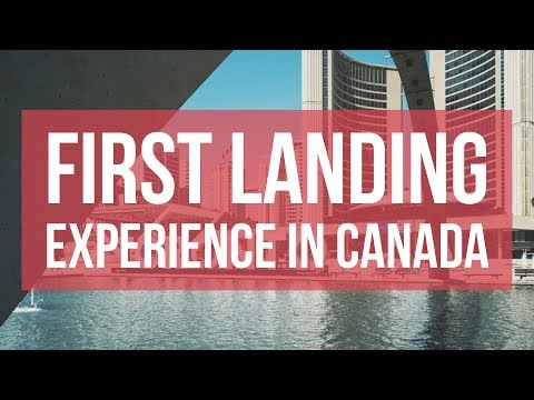 Our client describing his very first landing experience in Canada!!