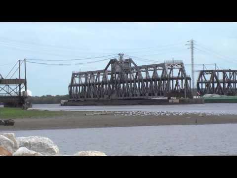 Fort Madison Swing Bridge & Barge