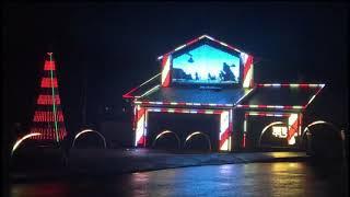 Patriotic Christmas lights